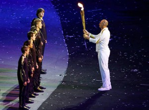 Torch bearer UK Olympics 2012